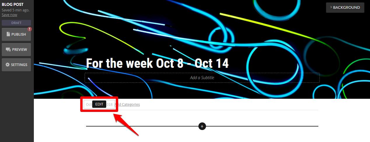 dates on blog posts