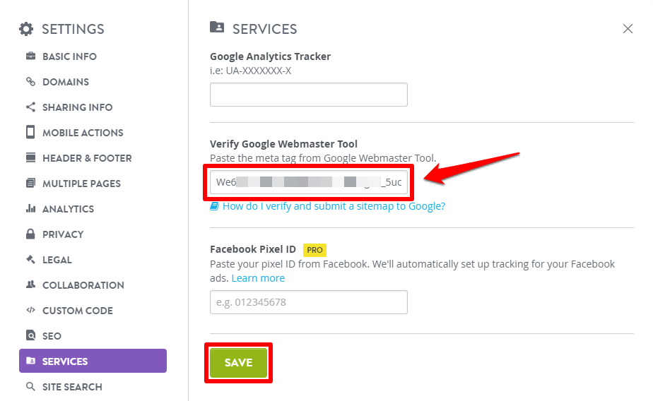Google Search Console (Webmaster Tools) / Google Sitemap