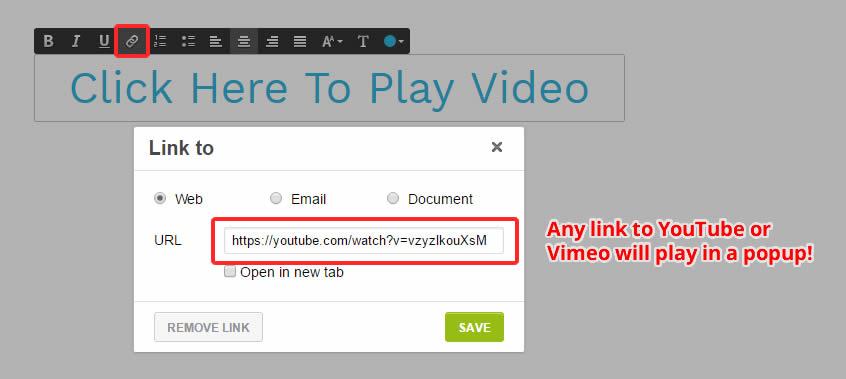 Open YouTube/Vimeo Videos in a Popup – Strikingly Help Center