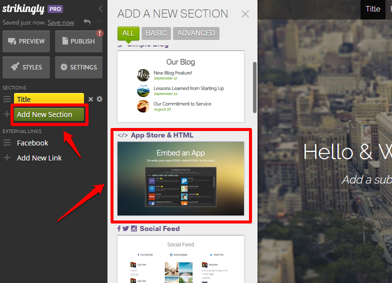 HTML Embed – Strikingly Help Center