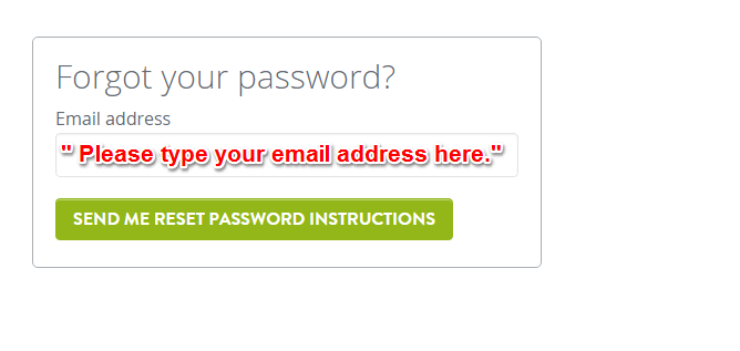 Can't Log In / Lost Account / Reset Password – Strikingly