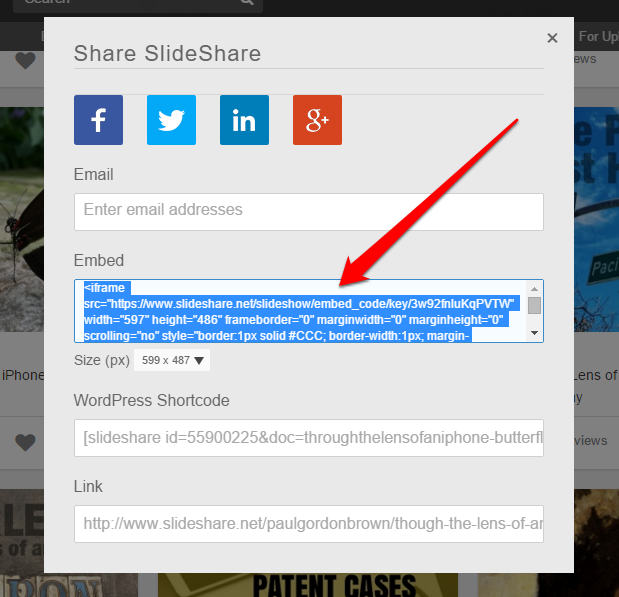 Embed Slideshare – Strikingly Help Center