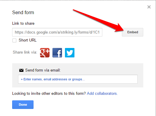 Embed Google Form – Strikingly Help Center